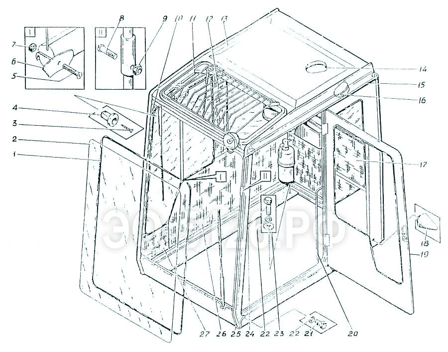 ЭО-5126 - Установка кабины машиниста