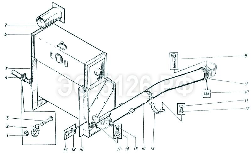 ЭО-5126 - Установка отопителя
