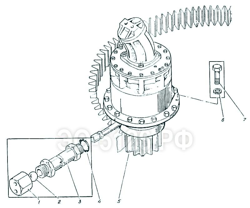 ЭО-5126 - Привод поворота