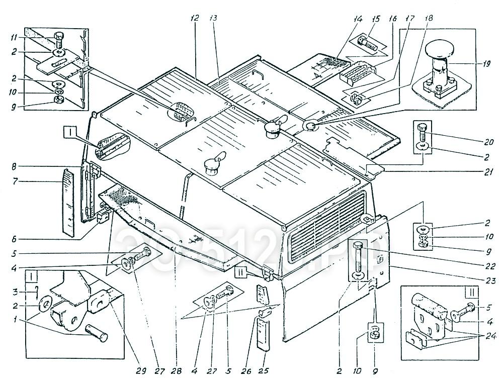 ЭО-5126 - Установка капотов
