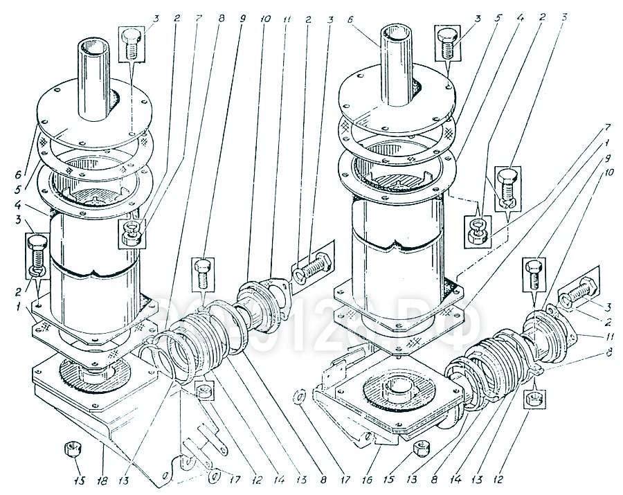ЭО-5126 - Система выхлопа