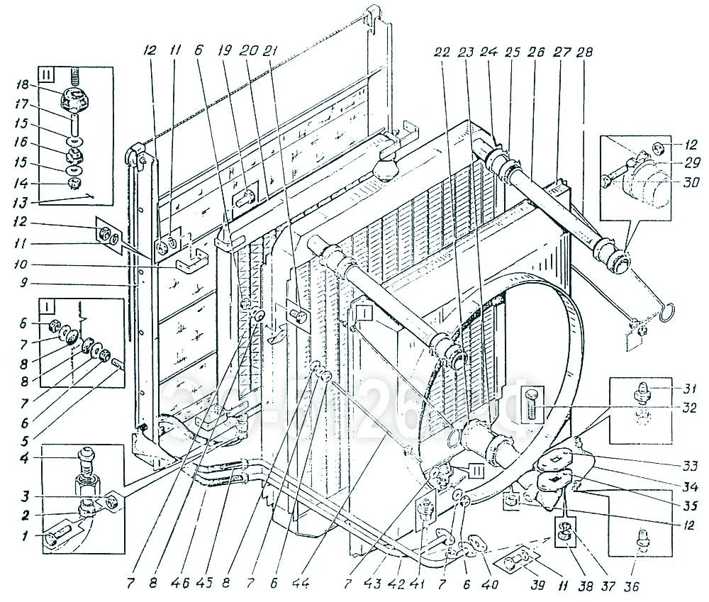 ЭО-5126 - Установка радиаторов