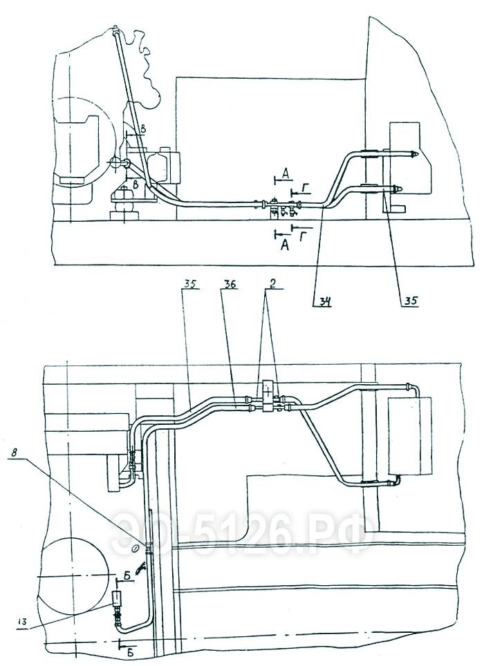 ЭО-5126 - Трубопроводы