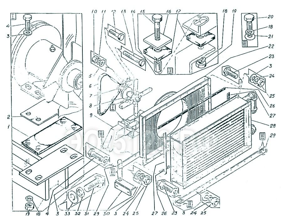 ЭО-5126 - Установка маслоохладителя