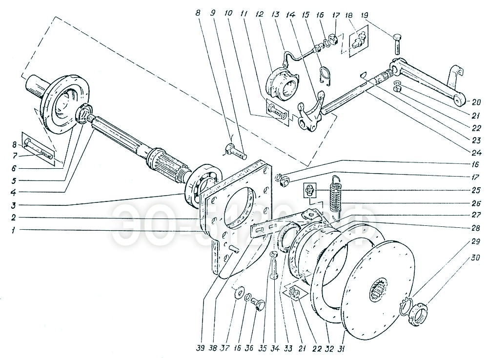 ЭО-5126 - Муфта сцепления