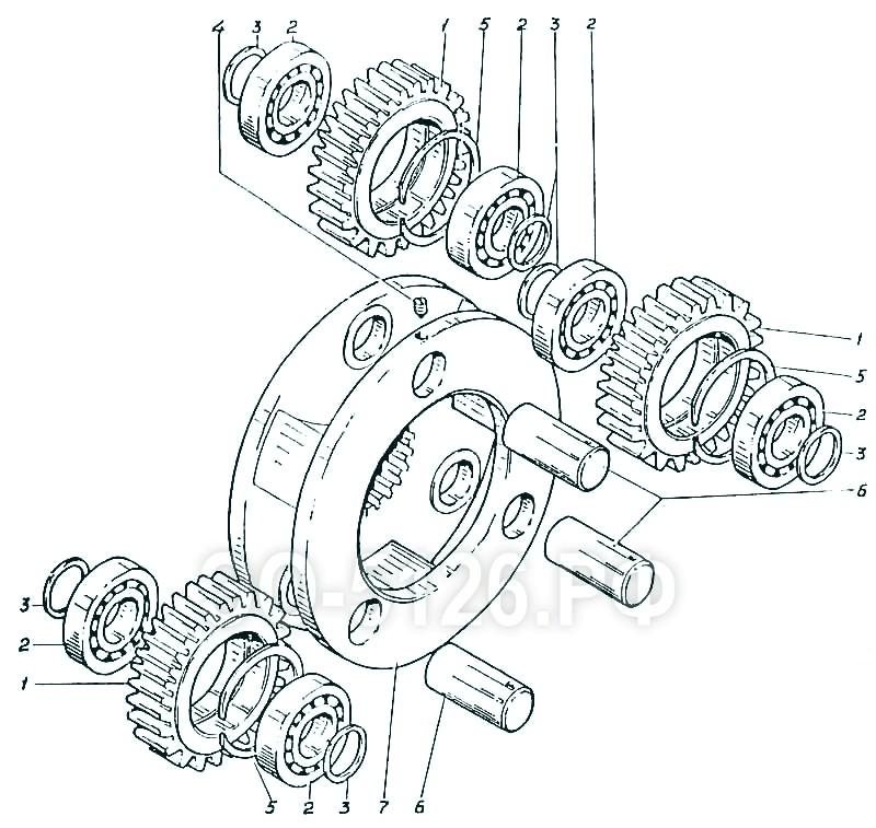 ЭО-5126 - Водило 1-й ступени