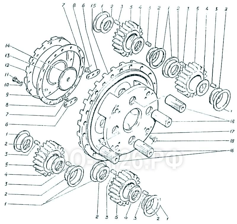 ЭО-5126 - Водило 3-й ступени