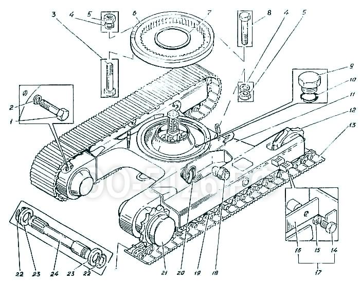 ЭО-5126 - Тележка гусеничная