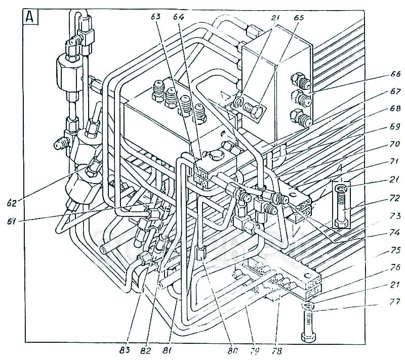 ЭО-5126 - Трубопроводы управления
