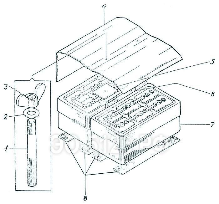 ЭО-5126 - Установка аккумуляторов