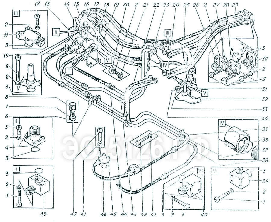 ЭО-5126 - Трубопроводы на платформе