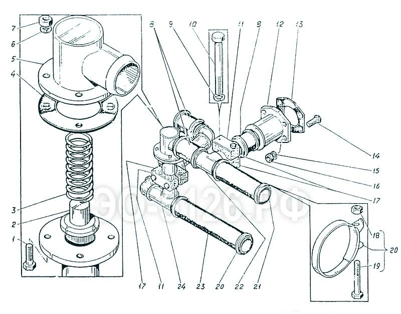 ЭО-5126 - Трубопроводы сливные