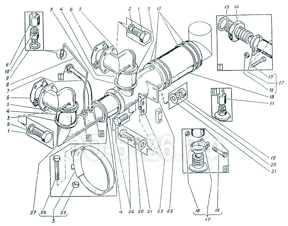 ЭО-5126 - Трубопроводы всасывания