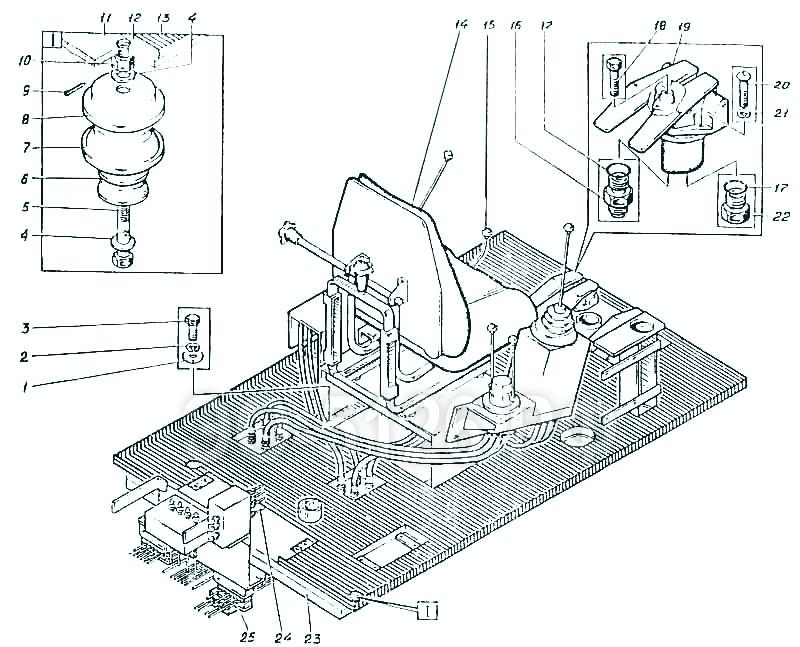 ЭО-5126 - Гидрооборудование кабины
