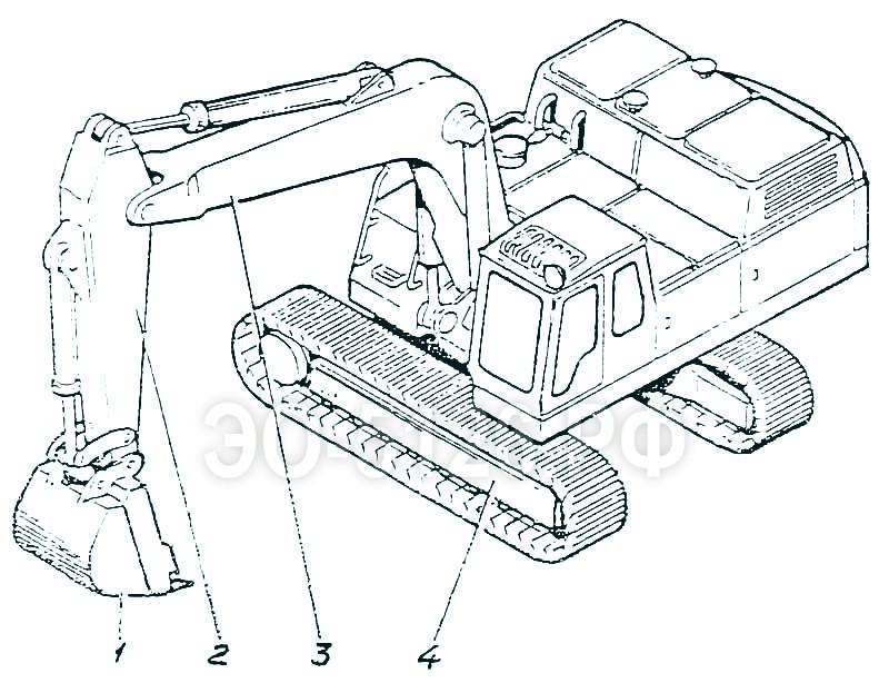 ЭО-5126 - Лопата обратная с ковшом 1 куб.м