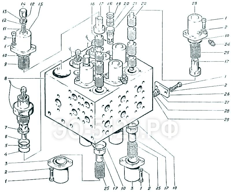 ЭО-5126 - Гидроаппарат гидроцилиндров