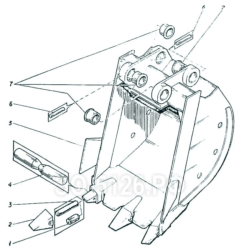 ЭО-5126 - Ковш 1 куб.м