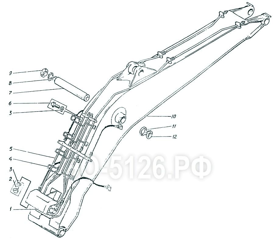 ЭО-5126 - Установка моноблочной стрелы