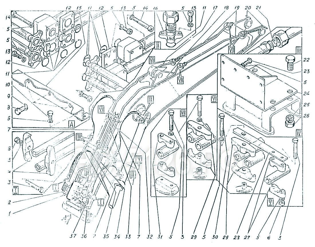 ЭО-5126 - Трубопроводы стрелы