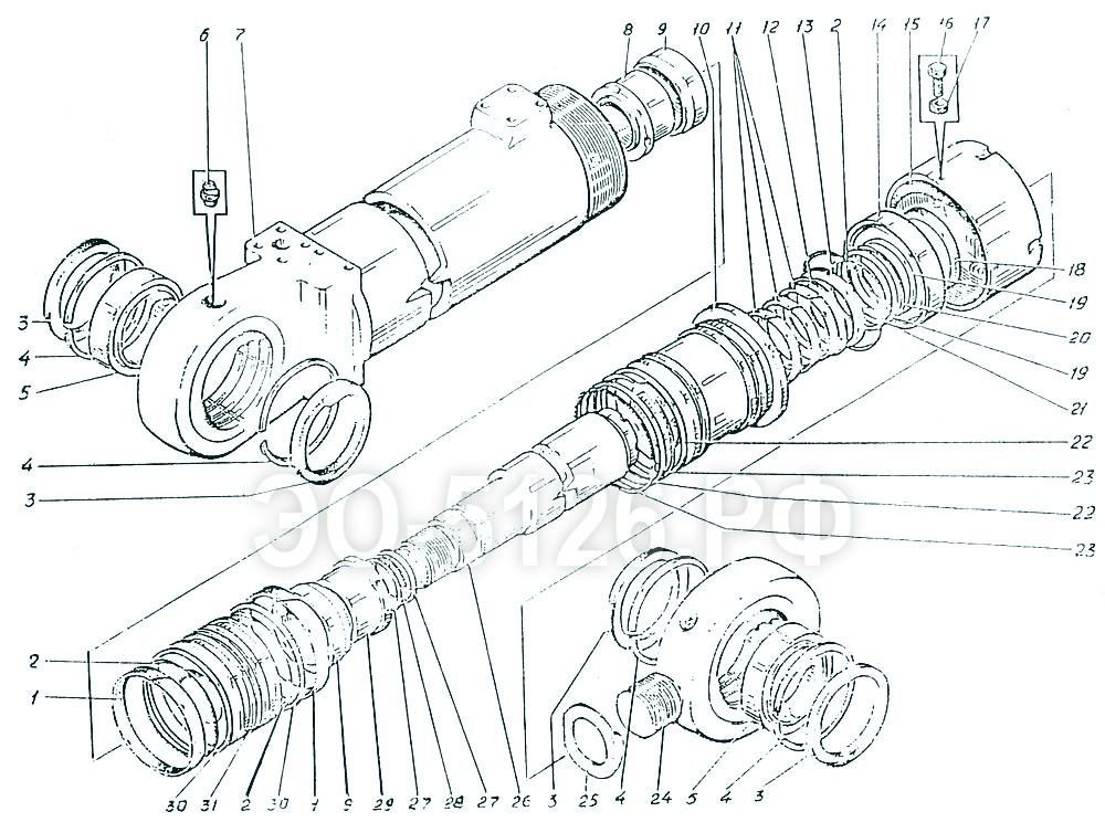 ЭО-5126 - Гидроцилиндр ковша