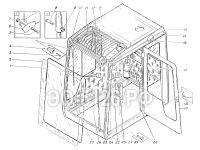 Установка кабины машиниста ЭО-5126