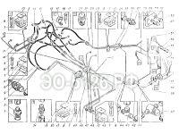 Трубопроводы управления на платформе ЭО-5126