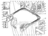 Трубопроводы гусеничной тележки ЭО-5126