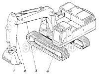 Лопата обратная с ковшом 1 куб.м ЭО-5126
