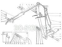 Установка рукояти обратной лопаты ЭО-5126