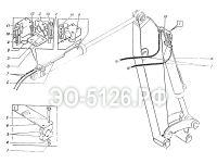 Трубопроводы рукояти (рабочего оборудования) ЭО-5126