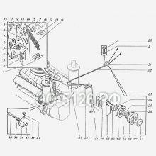 ЭО-5126 Управление дизелем