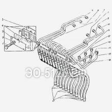 ЭО-5126 Трубопроводы управления стрелой