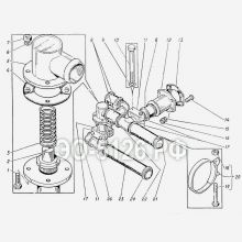 ЭО-5126 Трубопроводы сливные