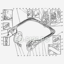 ЭО-5126 Трубопроводы гусеничной тележки
