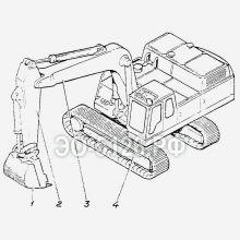 ЭО-5126 Лопата обратная с ковшом 1 куб.м
