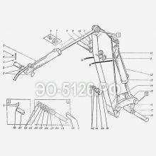 ЭО-5126 Установка рукояти обратной лопаты