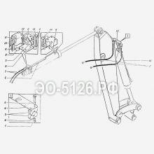 ЭО-5126 Трубопроводы рукояти (рабочего оборудования)