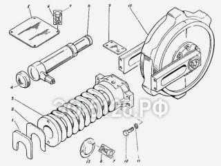 Колесо натяжное с механизмом сдавливания ЭО-5126
