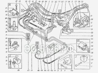 Трубопроводы на платформе ЭО-5126