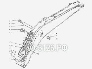 Установка моноблочной стрелы ЭО-5126